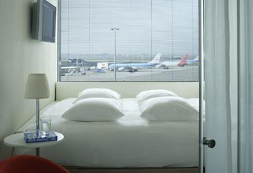 citizen M hotel op Schiphol Airport in Amsterdam