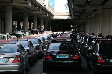 taxi's op standplaats